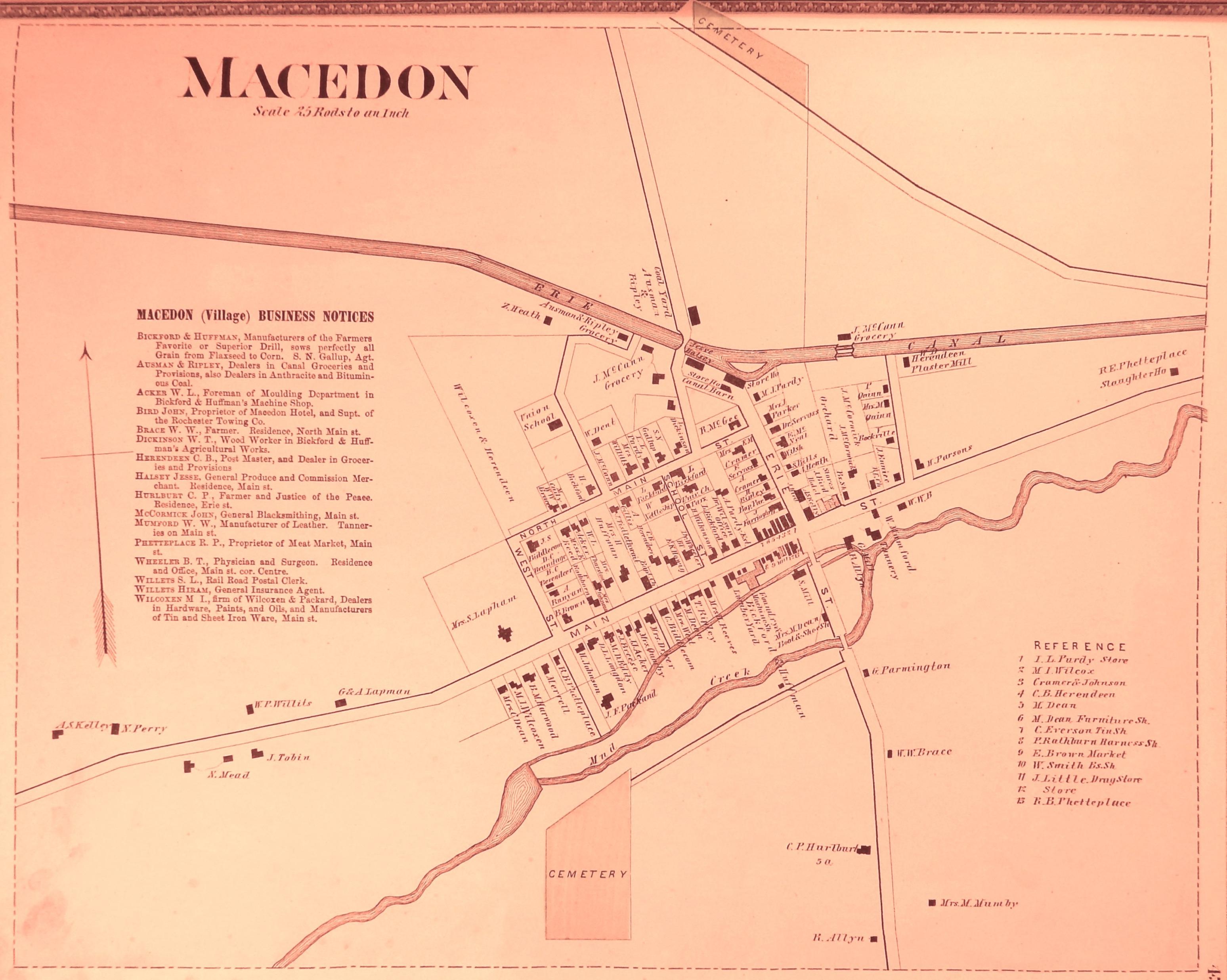 1874 Village Map