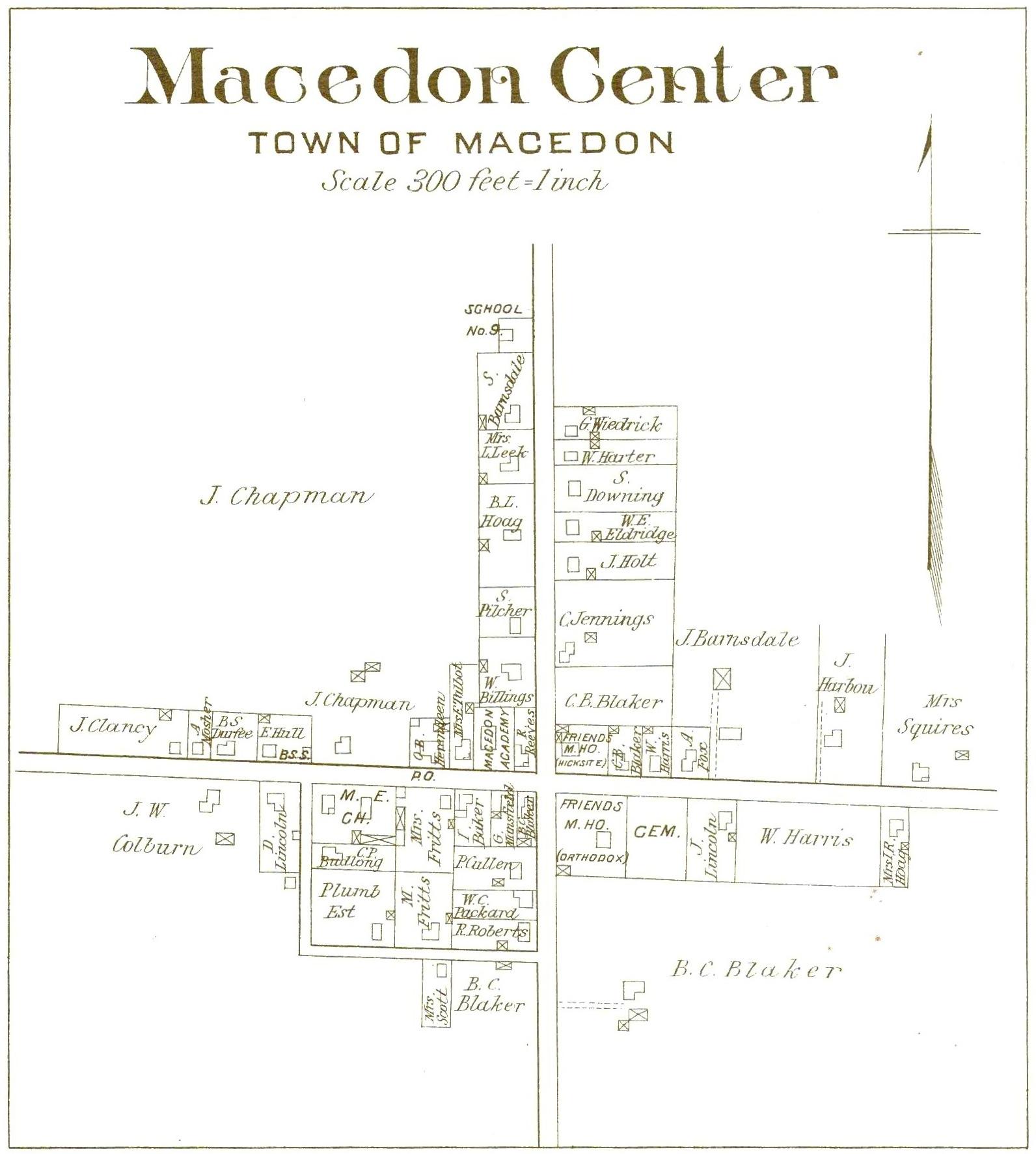 1904 Macedon Center Map