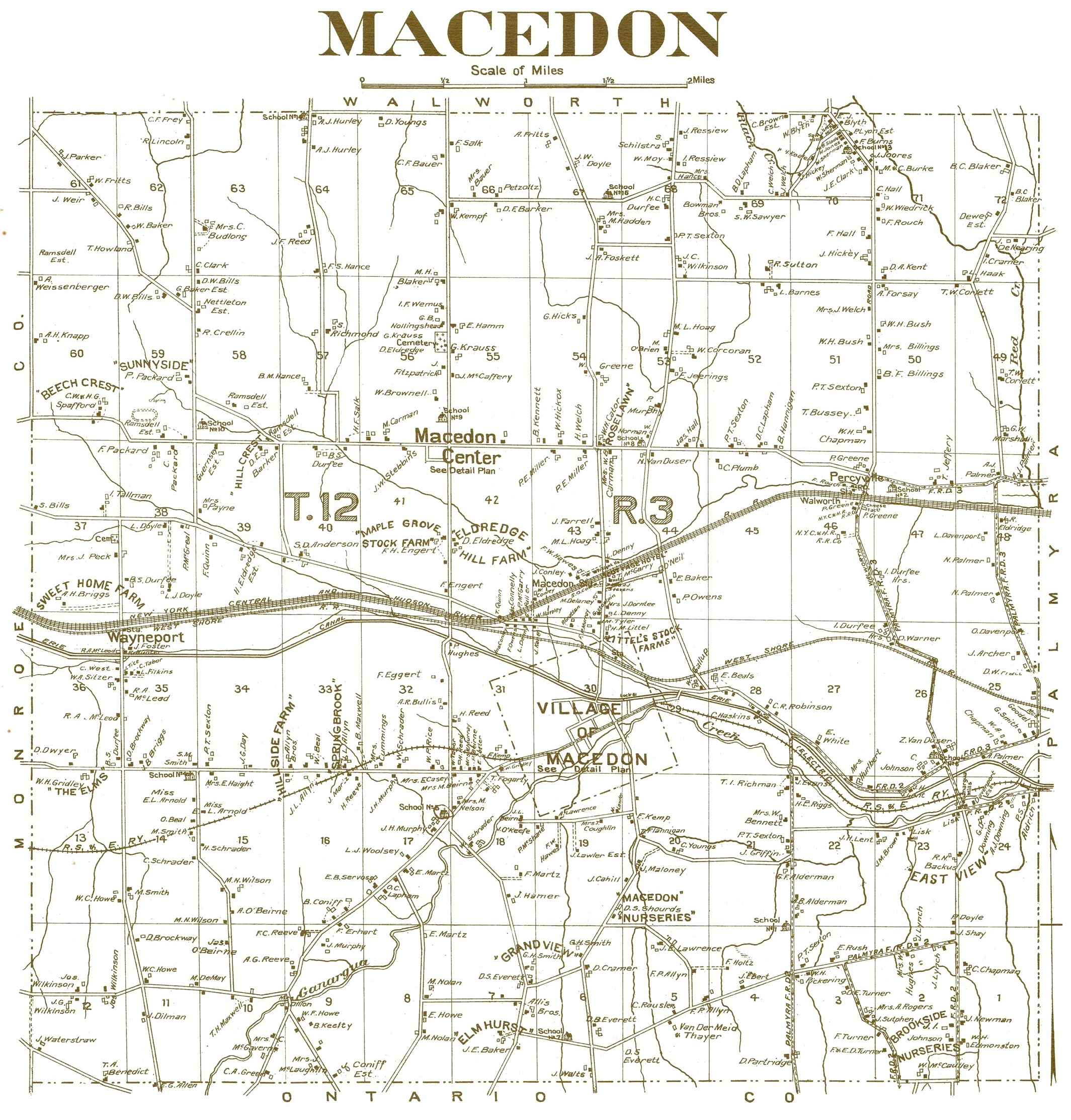 1904 Town Map
