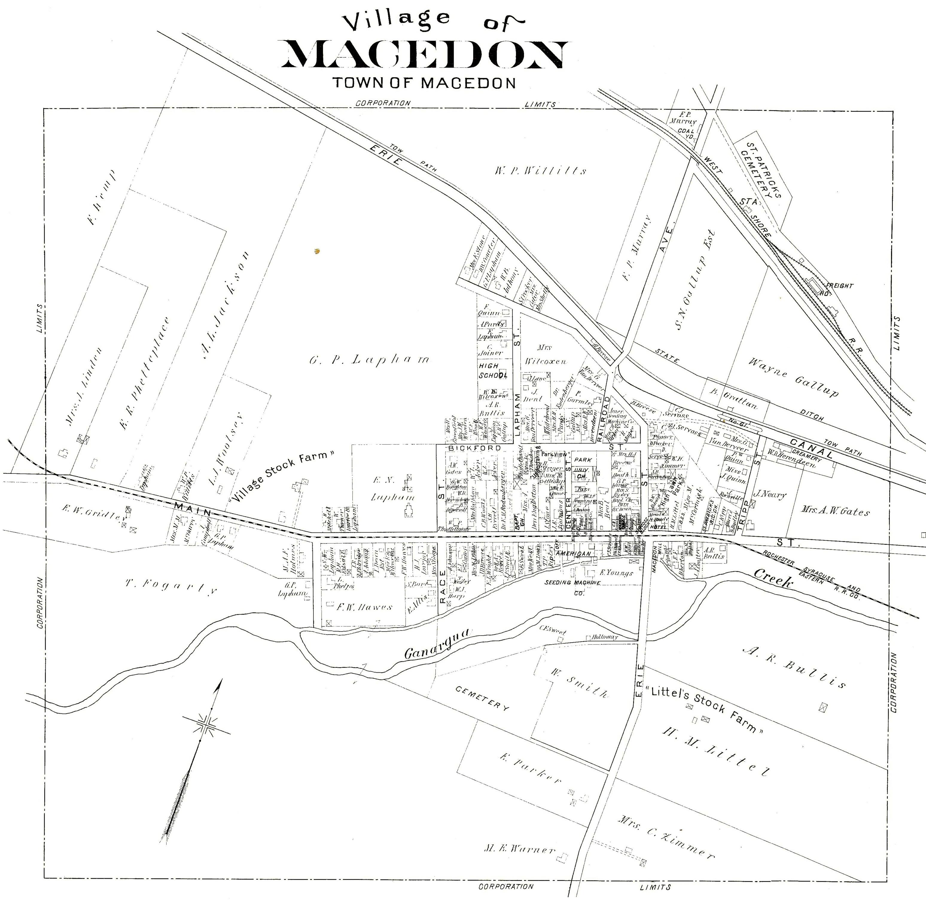 1904 Village Map