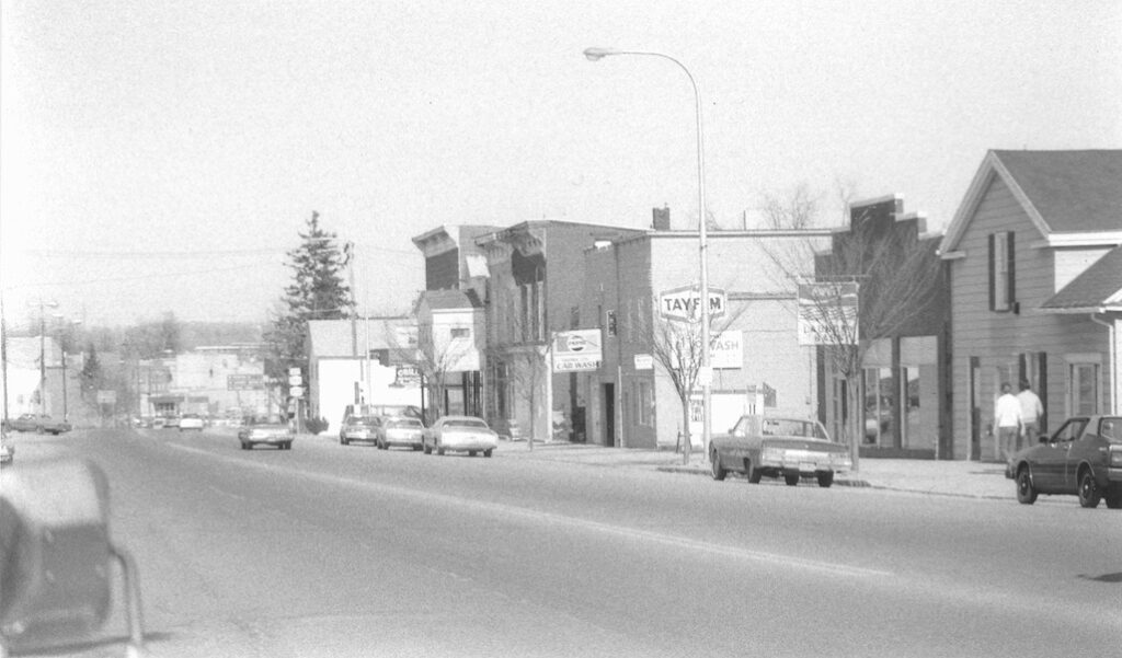Looking east on Main Street 1970s