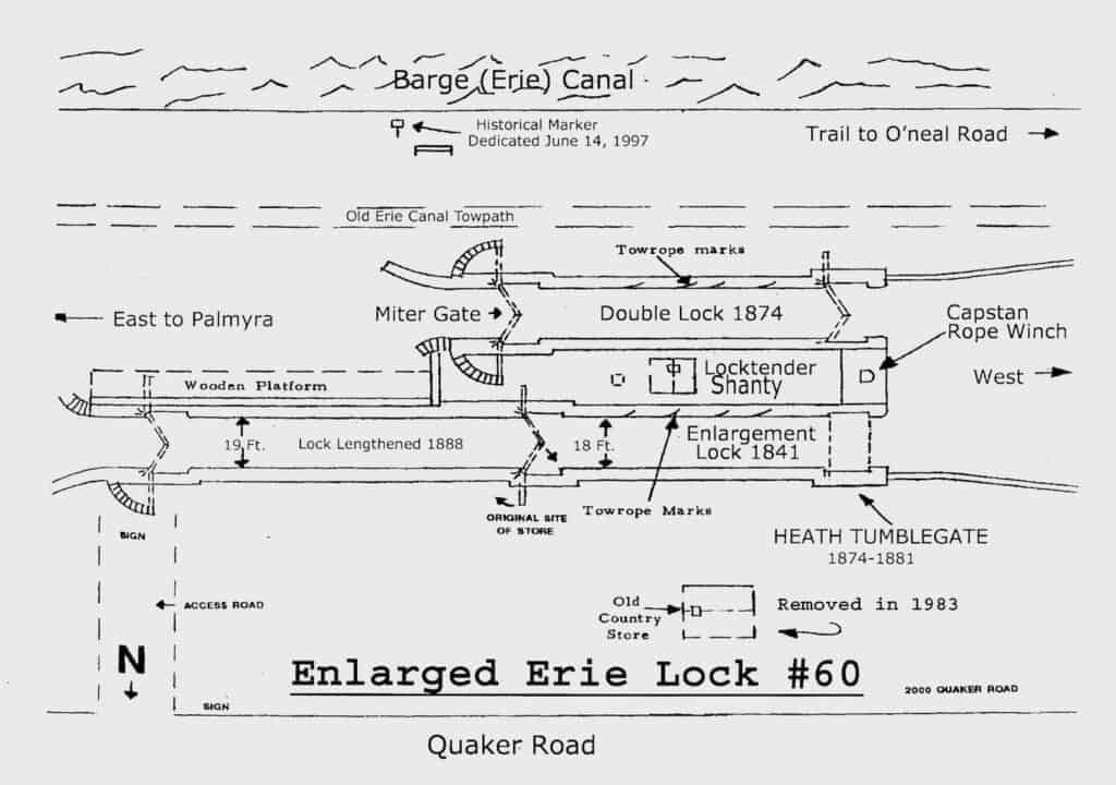 A diagram of Lock 60 drawn by Jay Harding