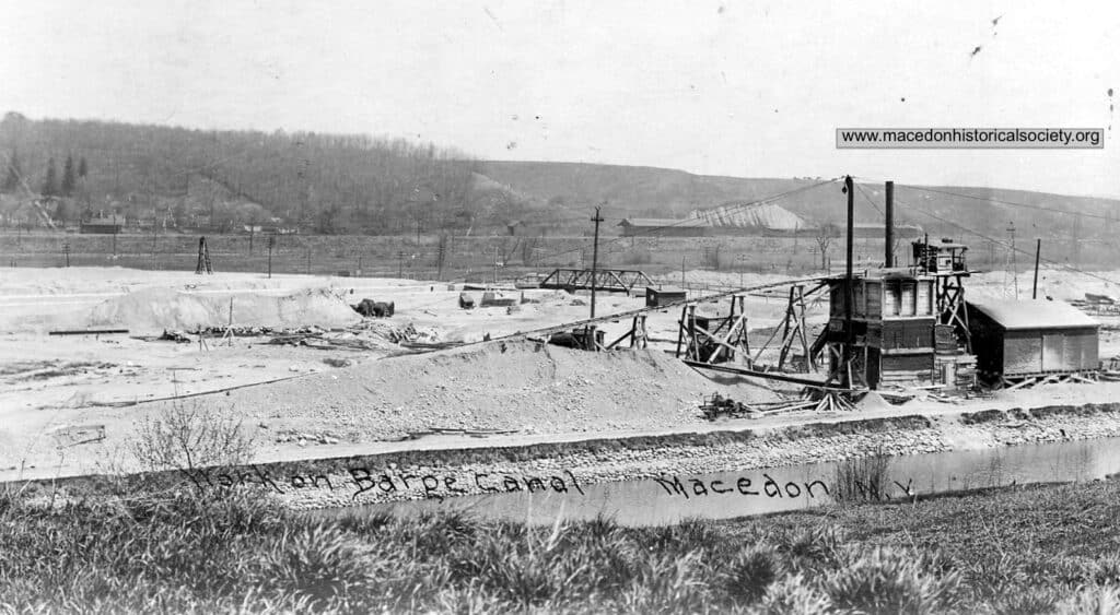 This photo was taken just south of the current location of the Macedon Fire Department and Lock 30