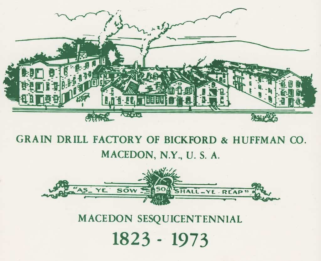 A ceramic plaque showing the Drill Works
