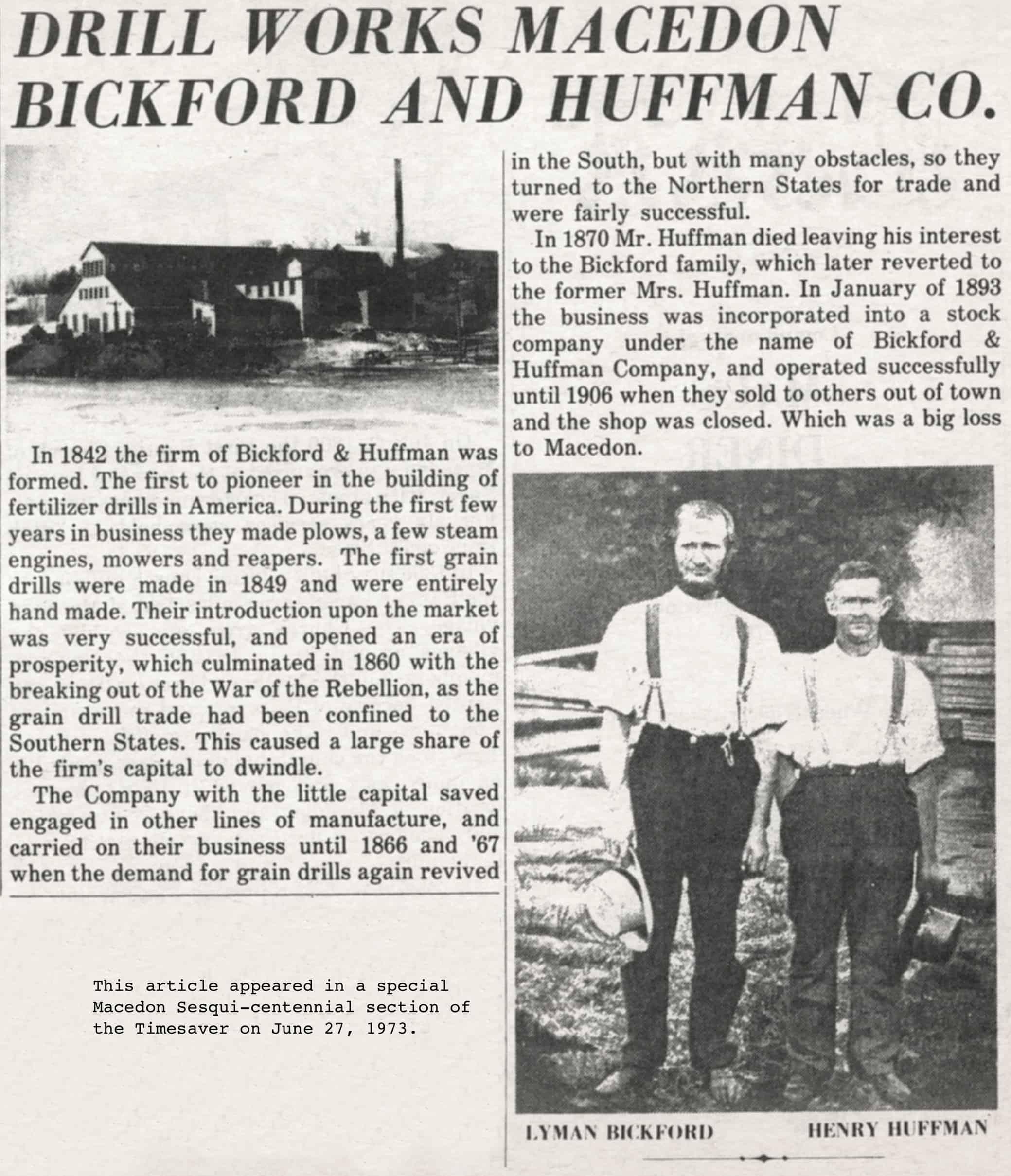 bickford_huffman_short_history