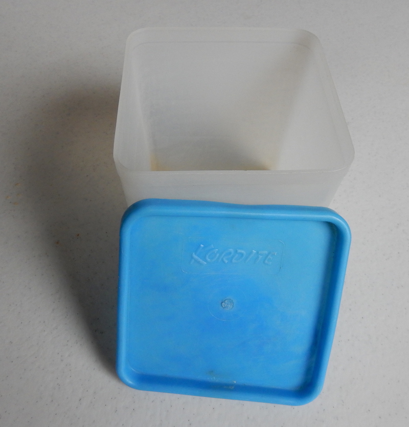 This food storage container is an example of a Kordite product.