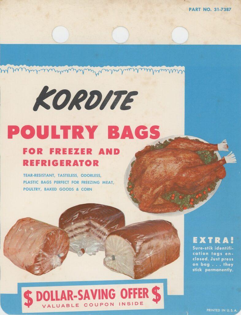 Kordite poultry storage bags