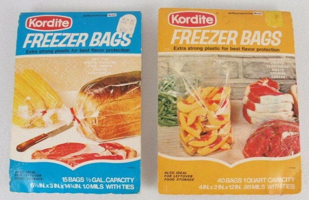 Kordite freezer bags