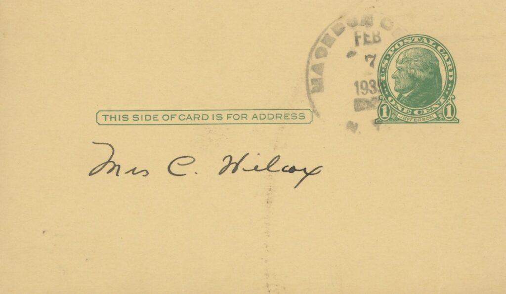 1935 post card