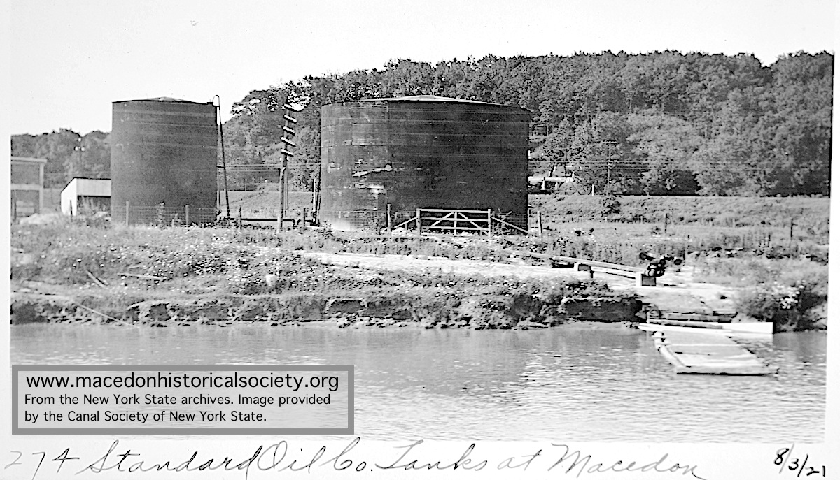The Standard Oil Company had a distribution facility on the Barge Canal by Route 350.