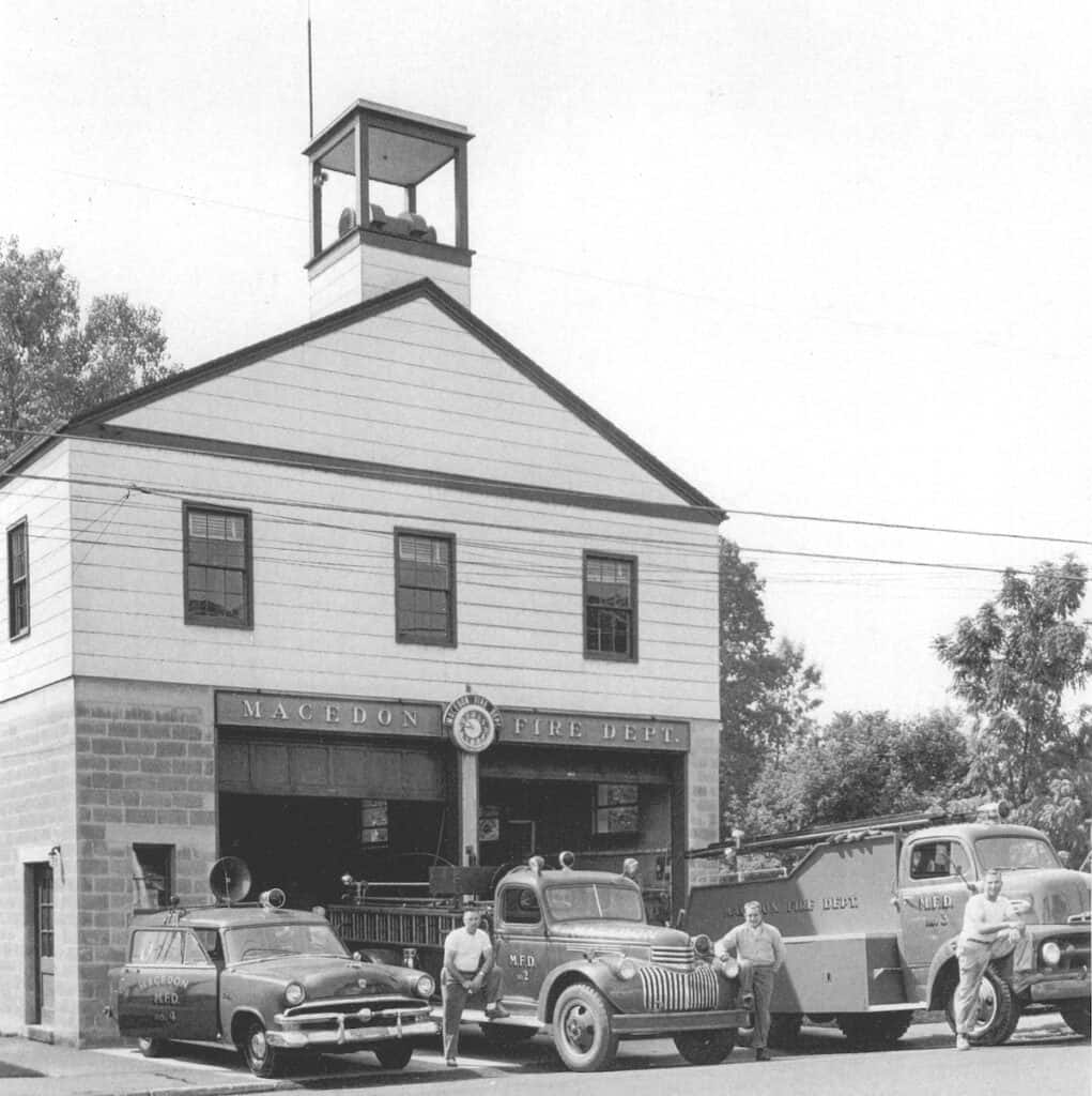 The fire hall at 79 W. Main Street (circa 1950s).