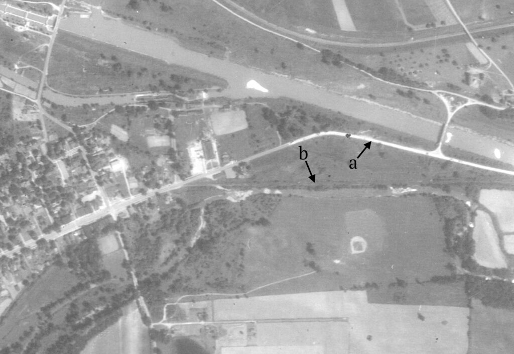 An aerial view of Route 31 in 1938