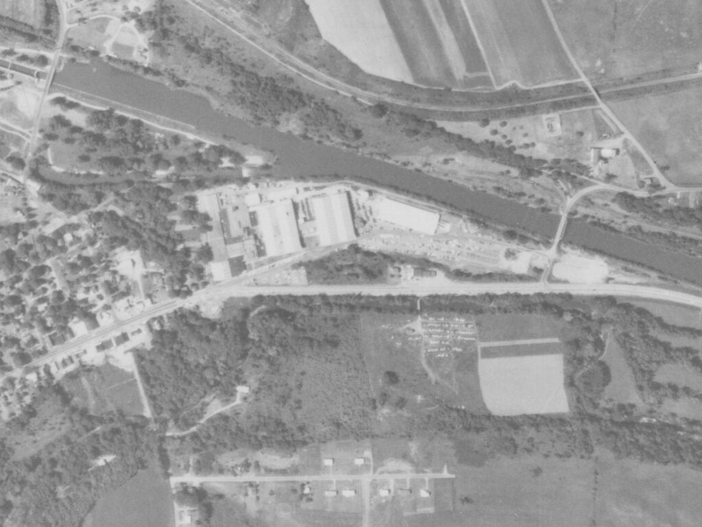 An aerial view of Route 31 in 1963