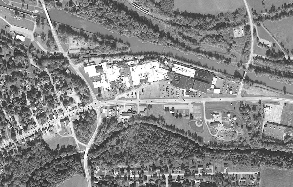 An aerial view of Route 31 circa 2010