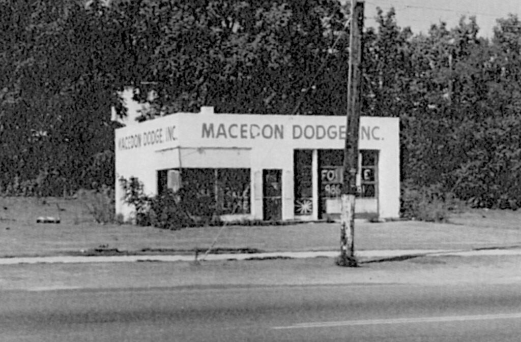 Macedon Dodge used the building for additional space in the 1970s.