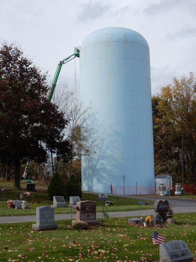 Demolition on the water tank starts on 10/23/2017.