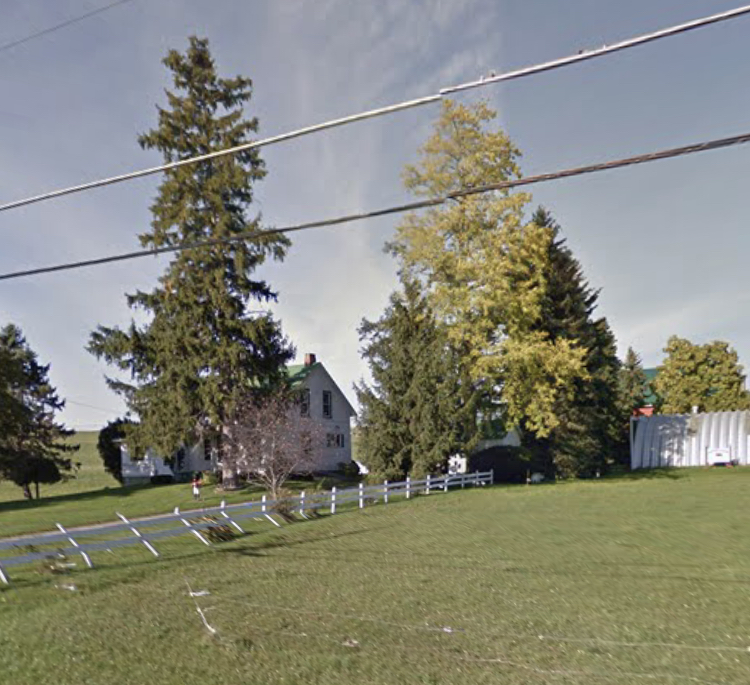 Street view of the Roger's Farm at 1247 Erie Road