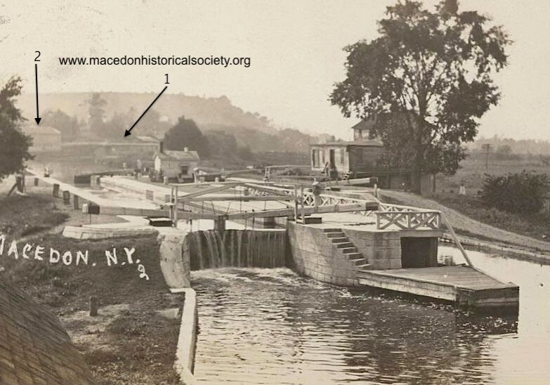 Lock 61 on the enlarged Erie was located just east of present Route 350.